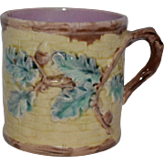 Antique Etruscan Majolica Mug Acorn Pattern Griffin, Smith & Hill ~ Phoenixville, Pennsylvania USA 1870-1890