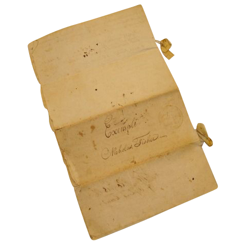 1811 Original hand written Orphan's Court transcript; Northampton County, Pennsylvania - signed and dated July 5th., 1811 by Thomas Jones Rogers