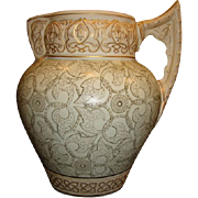 Superb Aesthetic Calvertine Ware Pitcher ~ Castilian ~ Unmarked DF Haynes BALT Chesapeake Pottery Baltimore MD 1900-1914