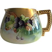 Pickard Cider / Lemonade Pitcher ~ Minnie Pickard ~ Blackberries ~ Pickard Studios – Chicago IL 1903-1905 ~ ~ CAC BELLEEK