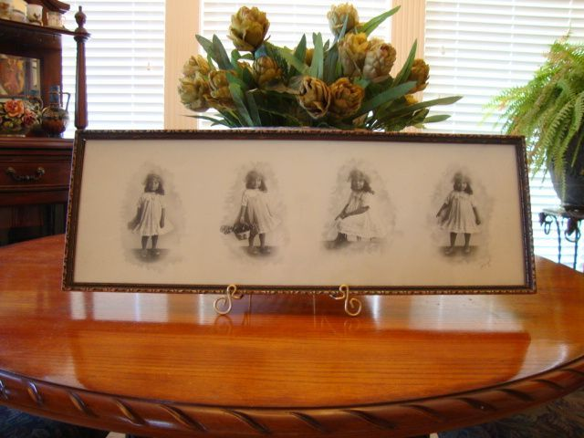 "Adorable Portrait of Young African American Girl in Her Sunday Best ~ Gelatin Silver Prints ~ Four Poses ~ Photographer Signed in pencil  ""Wingo"" ~ Wingo Studios Natchez MS 1900 – 1910"