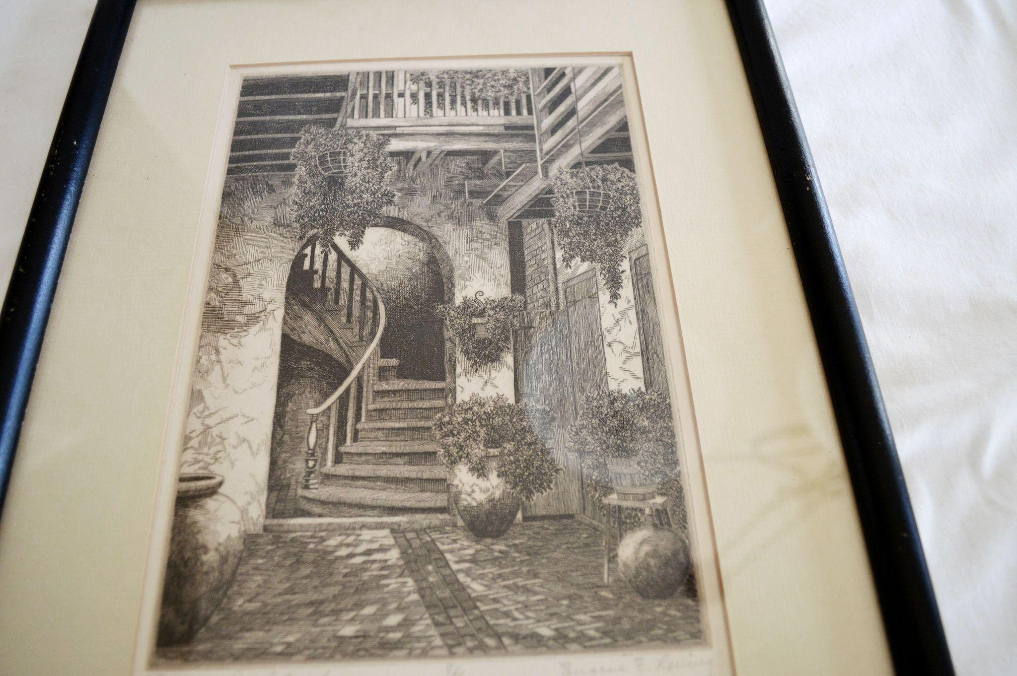 Beautiful Etching ~ The Marchand Court Old New Orleans ...