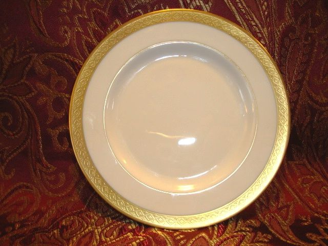 "12 Available Pickard 6 3/8""  Bread & Butter Plate ~  Hand Painted with Encrusted Diamond Rim ~ Jefferson Pattern ~ Pickard Studios Chicago IL  1938 +"