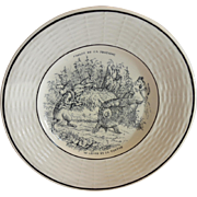 Porcelain Childs Plate ~ Fables de la Fontaine  ~ The Tortoise and the Hare ~ Digion/Sarreguemines  1919-1940's
