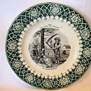 Wonderful French Faience ~ The Villagers Set ~ #10 The Harvester ~ Creil and Montereau, Barluet and Co. 1876-1884