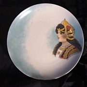 50% OFF! A Hand Painted Portrait Plate or Wall Plaque. This could be Queen Louise of Prussia. Rosenthal -1898-1906