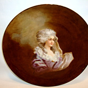 Lovely Limoges Porcelain Portrait Plate of  Marie Antoinette ~ Hand Painted ~ Haviland Limoges France