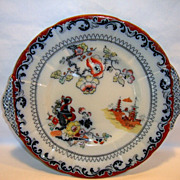 Wonderful Ironstone Cake Plate / Platter ~ Chinoiserie Decorations ~ Pattern B9650 ~ GL Ashworth & Bros LTD Stoke-on-Trent England 1862-1890