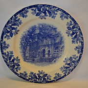 The Tulane University Library Souvenir Plate ~ W.T. COPELAND & SONS Ltd Staffordshire, UK) - ca 1890s +