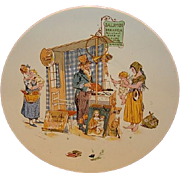 Wonderful French Faience Character /  Story Plate with Child and Mother ~ Enfants Richard ~ Froment-Richard  Antoine-Albert Richard ~UTZSCHNEIDER & CO (Sarreguemines, France) – 1905-1910