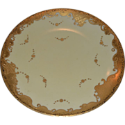 Gorgeous Limoges Porcelain Cabinet Plate ~ Raised Gold Paste ~ Tressemann & Vogt Limoges France 1892-1907