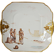Exceptional Haviland Limoges Cabinet Plate ~ Egyptian Revival Decorations ~ Charles Field Haviland / Gerard Dufraisseix Morel Limoges France 1882
