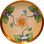 Gorgeous Violet Art Nouveau Plate ~ Limoges Porcelain ~ Hand Painted by Lamour ~ George Borgfeldt (Cornet) Limoges France 1908-1914