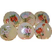 "6 Beautiful 6"" Hand Painted Pickard China Plate  ~ by Otto W. Goess  Pickard Studios Chicago IL 1905-1910"
