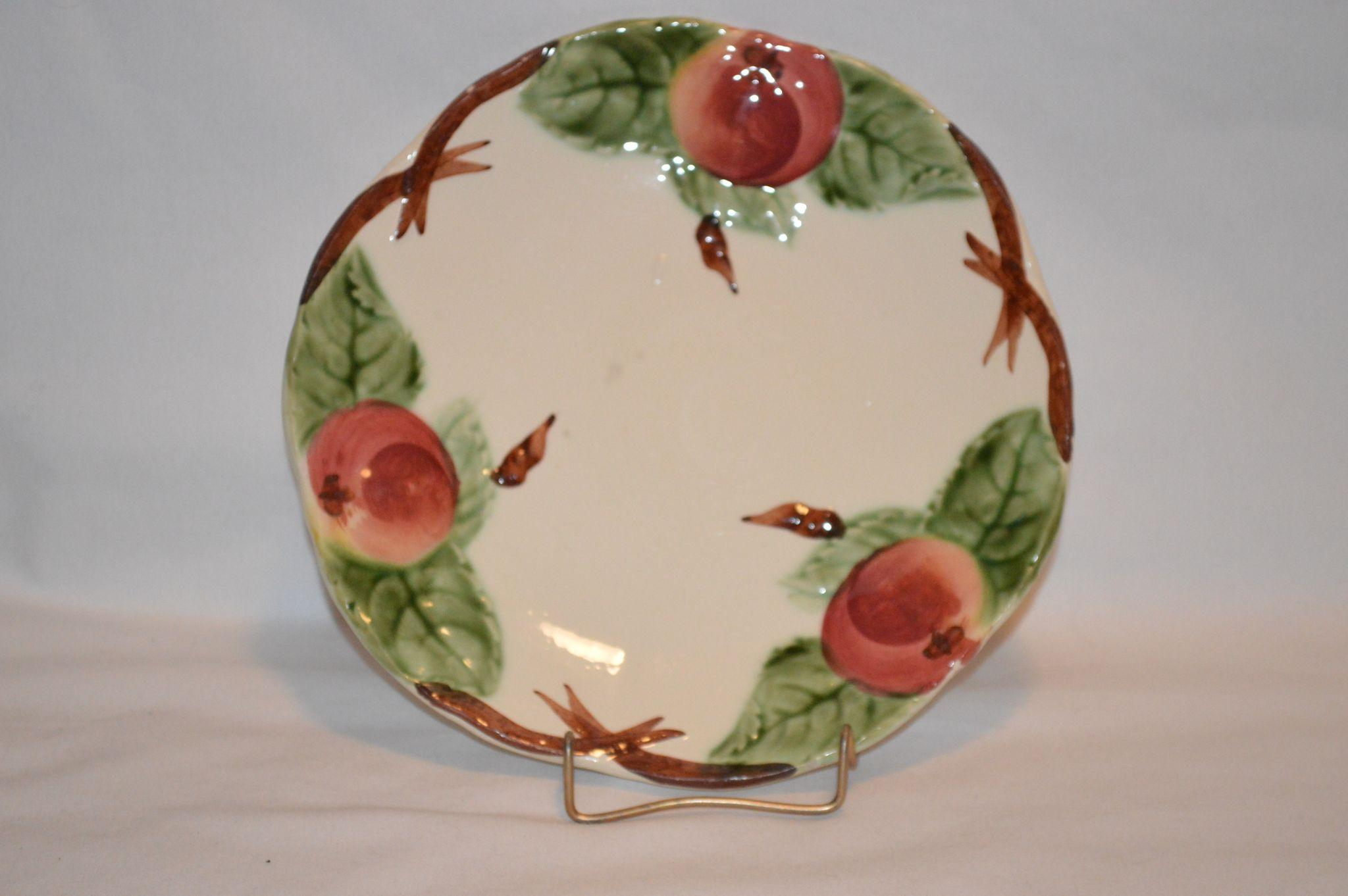 Reduced Set Of 4 Beautiful Majolica Faience Plates