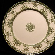 "Exquisite Old Green Transferware English ~""Alexandria"" Pattern~ Dunn & Bennett ~ 1875-1907"