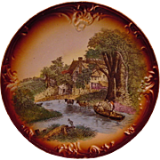 Scenic German Wall Plaque ~ By Franz Anton Mehlem 1836-1920