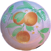 50% OFF BEAUTIFUL Antique French Majolica Faience Plate with Oranges ~ St Clements, France  early 1900's