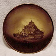 "Beautiful English Wall Plaque /Plate ""Mount  St. Michael ~ Royal Vista"" ~ Ridgways 1880-1900"