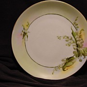 Beautiful Bavarian Porcelain Plate ~ Caines Studio Decorated with Lily of the Valley's ~ Artist Signed ~ Rosenthal Selb-Bavaria 1910