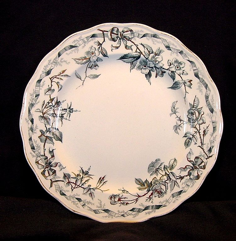 """Wonderful Old English Earthenware ~Transfer Ware Cabinet Plate ~ """"Albion"""" Pattern"""" ~ Brown Westhead & Moore Hanley England 1862-1904 - 9/22/1882"""