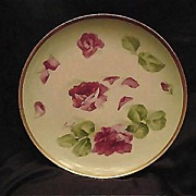 50% OFF! Limoges Plate Hand Painted, Signed  Red Roses – Latrille Freres ca 1908-1913