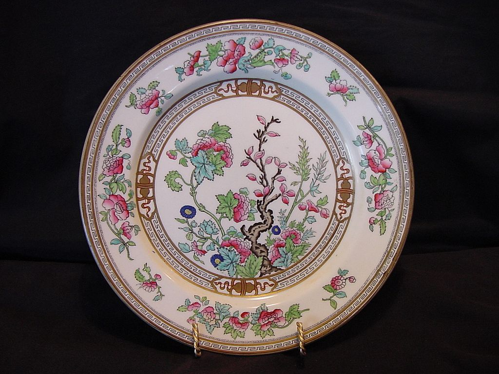 Hard To Find English Plate Dresden Pattern Indian