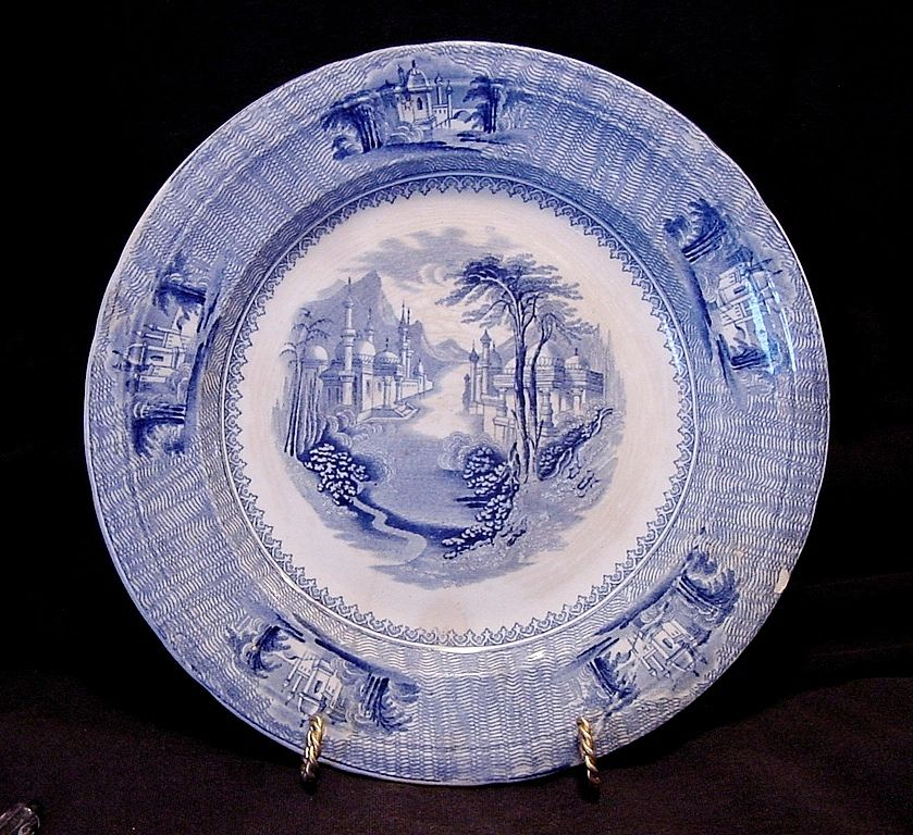 "Unbelievable English Blue and White Transferware ~ ""SIAM"" Pattern ~ J Clementson 1840-1869"