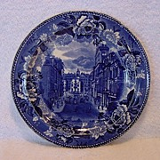 Commemorative Plate ?State St and the Old State House in Boston, 1888 ~ Wedgwood  1895