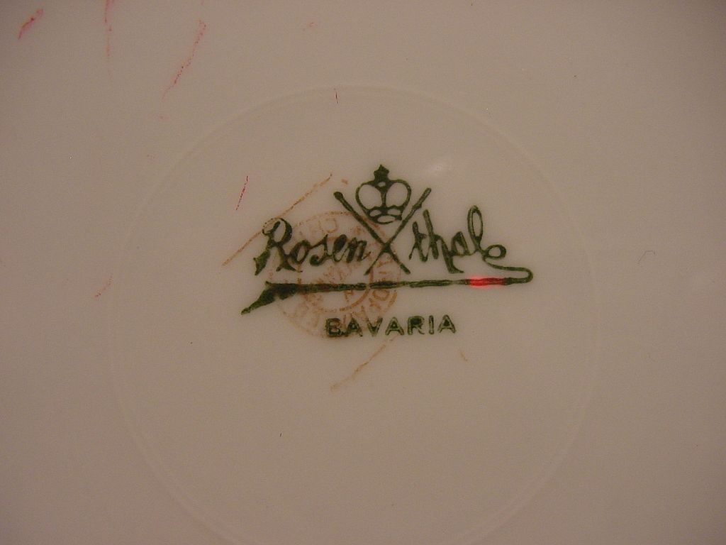 Wonderful Bavarian Porcelain Cabinet Plate Hand Painted