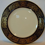 "Gorgeous 11 ¾"" Pickard Decorated Porcelain Plate ~ Cobalt with Gold ~ Pickard Studios Chicago IL 1936+"