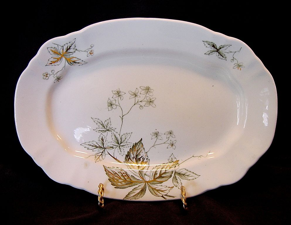 "Awesome 118 Year Old English Platter ~ ""Virginia Pattern"" John Edwards England 1891"
