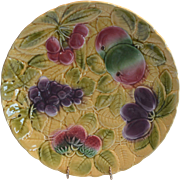 "Platters / Chargers 12"" W ~ 4 avail ~ Sarreguemines France Majolica 12"" Fruit  ~ DIGOIN AND VITRY-LE-FRANCOIS (Sarreguemines, France) – 1920-1950"