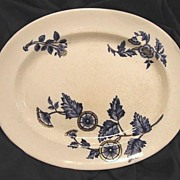 "50% OFF! (2)Oval Platters- COPELAND FLOW BLUE - ""Ashburne"" Pattern -1850-1867"