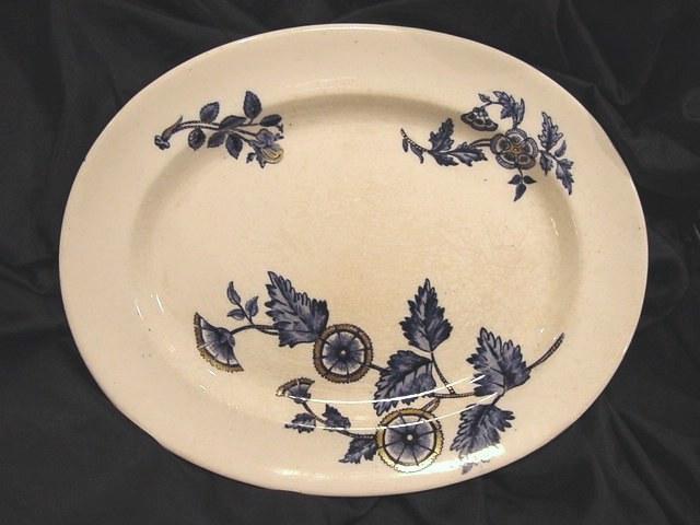 "50% OFF! (2)Oval Platters- COPELAND FLOW BLUE - ""Ashburne"" Pattern -1850-1867"