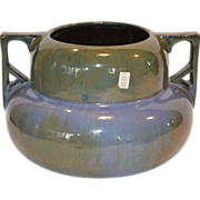 Wonderful Fulper ~ Lamp Base / Pot  ~ Two Tiered  with Angular Handles ~ #665 ~ Chinese Blue & Green  ~ Fulper Pottery Flemington, New Jersey 1910-1929
