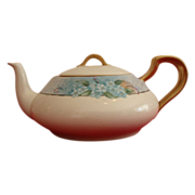 Adorable Haviland Squat Teapot ~ approx 3 3/4 Cups~ Limoges Porcelain~ Hand Painted with Forget-Me-Nots ~ Haviland Limoges France 1893-1931