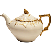 Elegant Teapot ~ English China ~ Royal Crown Derby ~ Gold Vine Pattern A775  ~ England 1941