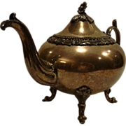 """Large Ornate Antique Teapot ~ Holds 9 1/2"""" Cups ~ Silver Plate ~ Sheffield  England"""