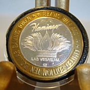 Casino gaming token, .999 fine silver. 1994 Flamingo Hotel