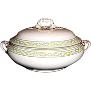 TUREEN-COVERED DISH by Booths ca. 1906. This will make a LARGE and IMPRESSIVE table statement.