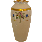 Cute Art Deco Porcelain Vase ~ Hand Painted with Flowers ~ Pickard Studios Chicago IL 1912-1918