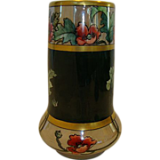 """Awesome Austrian Porcelain Vase ~ 8'' tall and """"chubby"""", nice! Hand Painted with Luster & Poppies & Gold ~ Moritz Zdekauer Austria 1884-1910"""