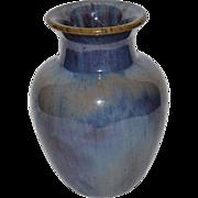 "Wonderful Fulper Vase ~ 7 ½"" Tall ~ Chinese Blue / Wisteria Glaze ~ Fulper Pottery Flemington, New Jersey 1916-1922"