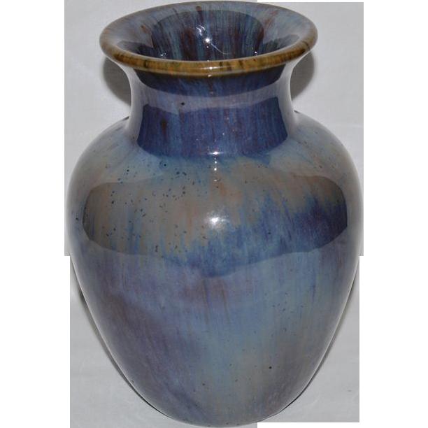 Wonderful Fulper Vase 7 Tall Chinese Blue Wisteria Glaze