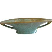 Fulper Art Pottery Center Bowl / Vase ~ HARD TO FIND ~  Flemington Green #723 ~ Fulper  Flemington, NJ 1899-1929