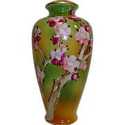 Nice Porcelain Vase ~ Hand Painted with Oriental Plum Blossom on Branches