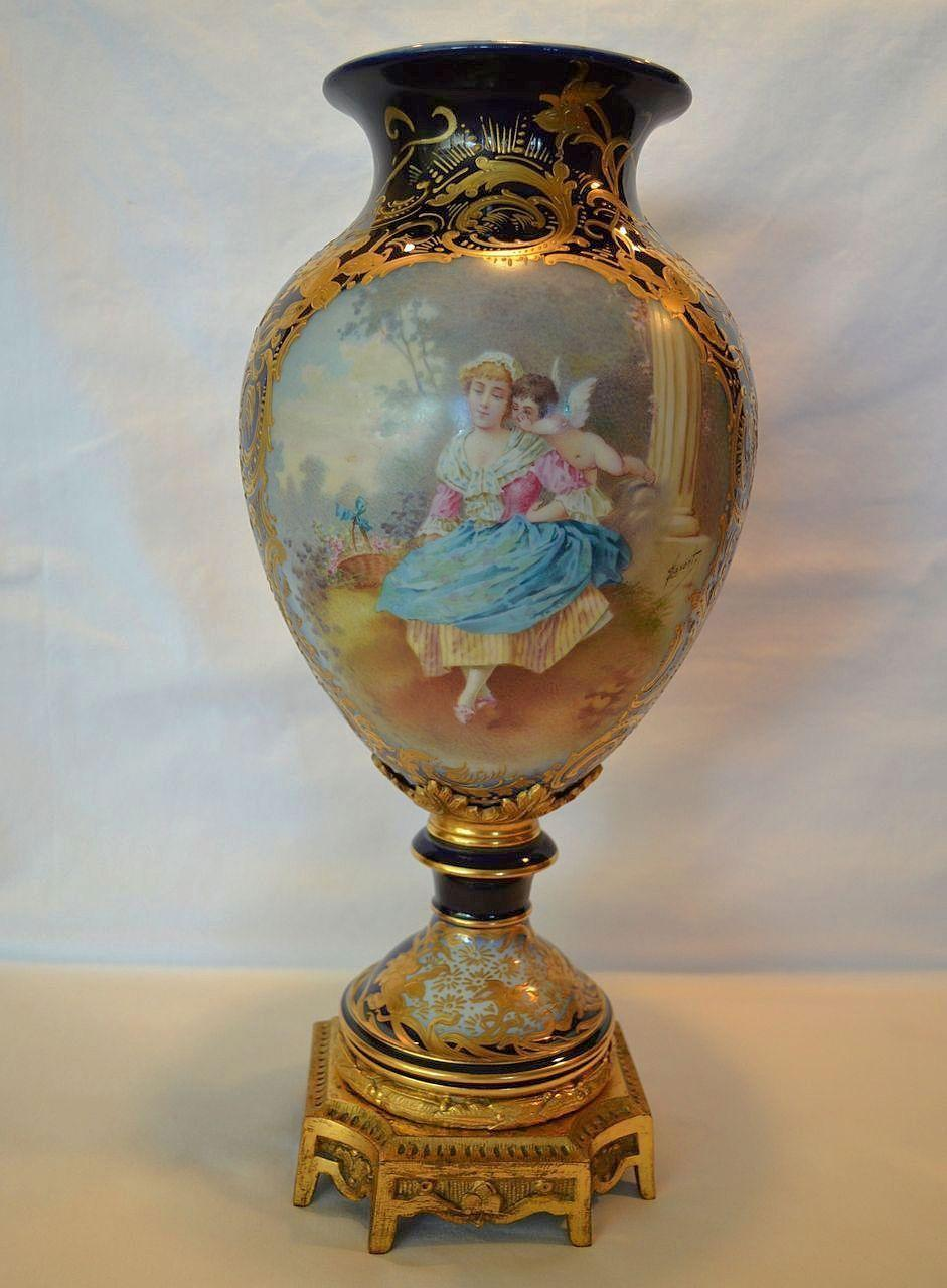 Magnificent 17 French Sevres Style Hand Painted Porcelain