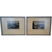 "Very Nice Serigraph Prints of ""The Fiddler on the Roof"" and ""Wind and Water""  Musical Paintings ~ Signed By Graphic Artist  John Mosiman 1931-2012"