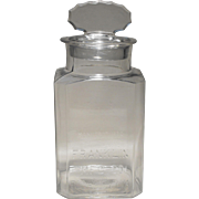 Franklin Manufacturing Company Glass Counter Display Jar with Lozenge-top Lid